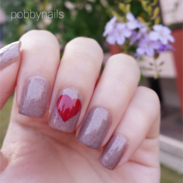 Just a Heart <3 nail art by Priscilla  Lim