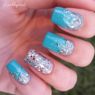 Chunks of Diamonds. nail art by Priscilla  Lim