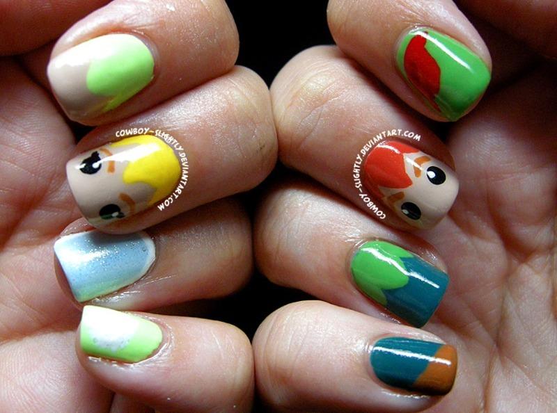 Peter Pan and Tinkerbell nail art by Samantha Rae - Nailpolis ... 383a520ef474