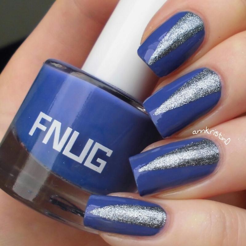 Tape Mani FNUG nail art by Ann-Kristin