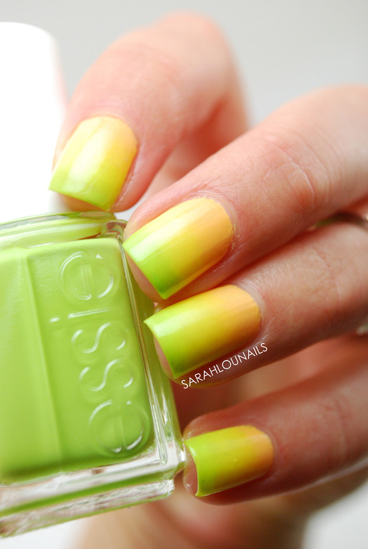 Neon Ombre Nails! nail art by Sarah S