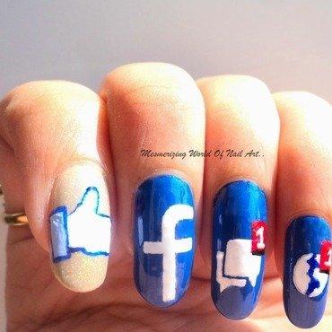 Facebook Nail Art nail art by Anubhooti Khanna