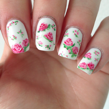 #31DC2014 - Flowers nail art by NailThatDesign