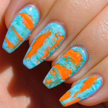 Abstract art nail art by HappilyEver Rose