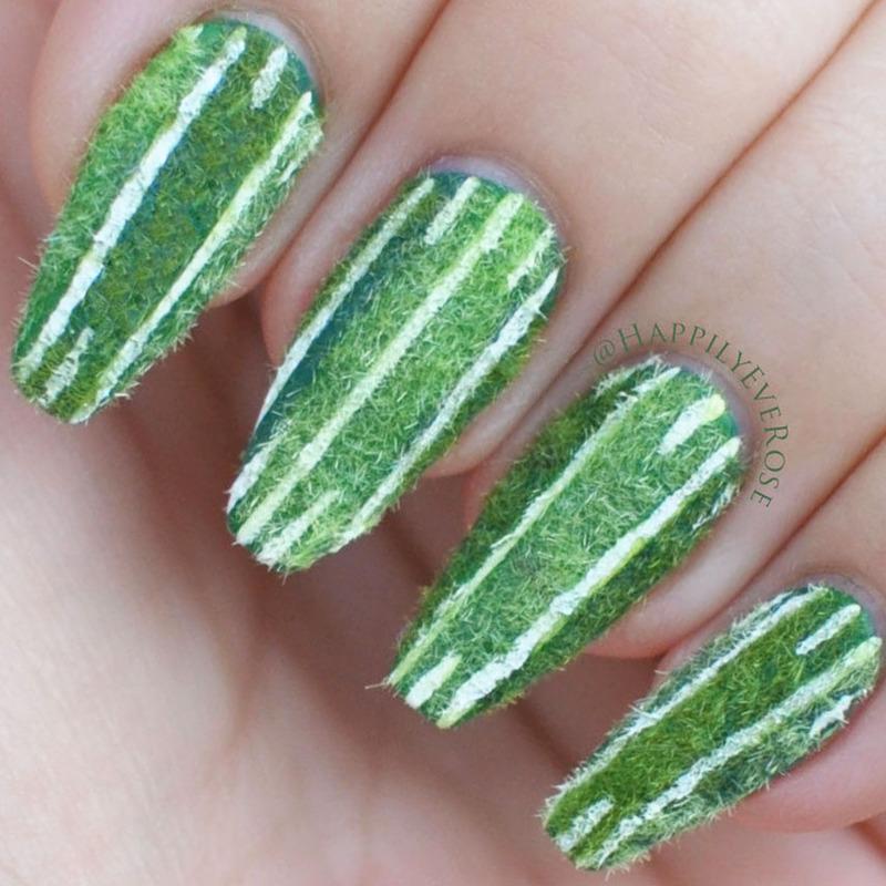 Football Field Nails nail art by HappilyEver Rose