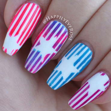 Stars & Stripes nail art by HappilyEver Rose