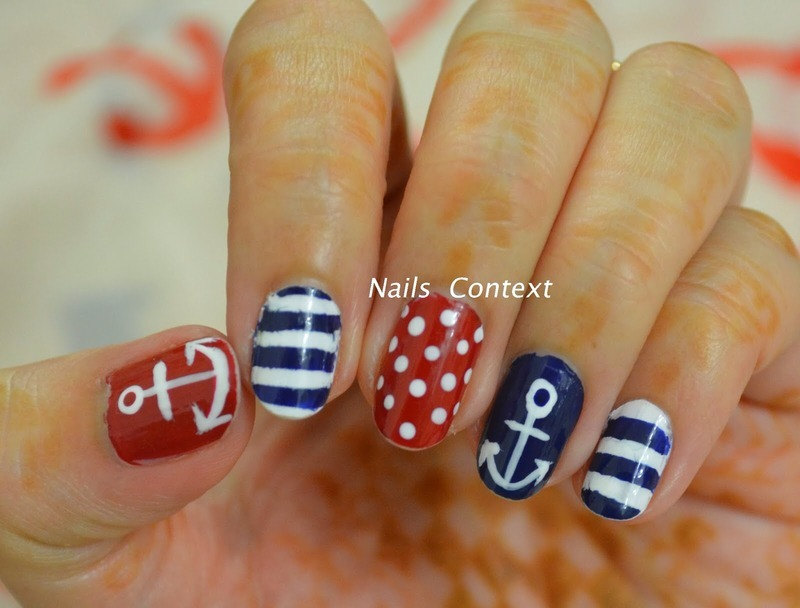 Nautical Nails nail art by NailsContext