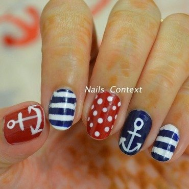 Nautical Nails nail art by NailsContext