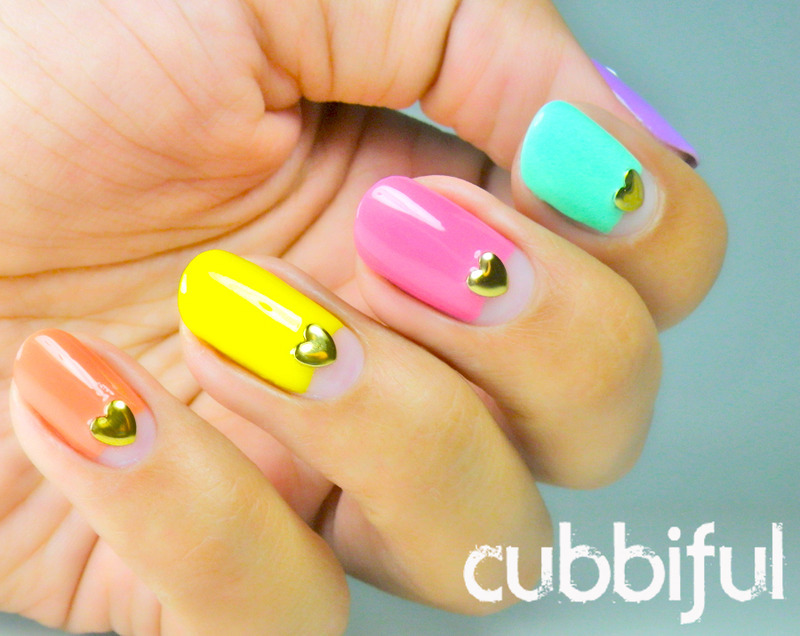31DC2014 - Day 18: Half Moons nail art by Cubbiful
