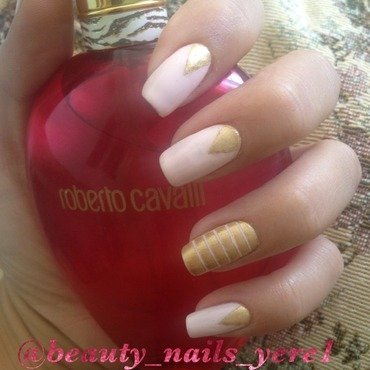 Pink love nail art by Arevik Sunny
