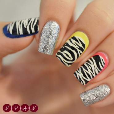 Holler nail art by Becca (nyanails)