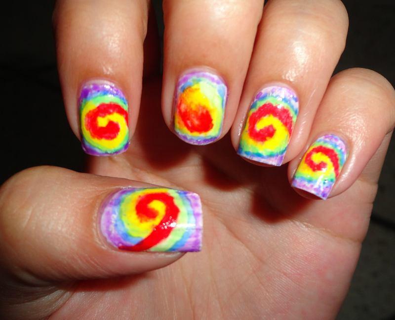Abstract Tie and Dye Nail Art nail art by Leneha Junsu
