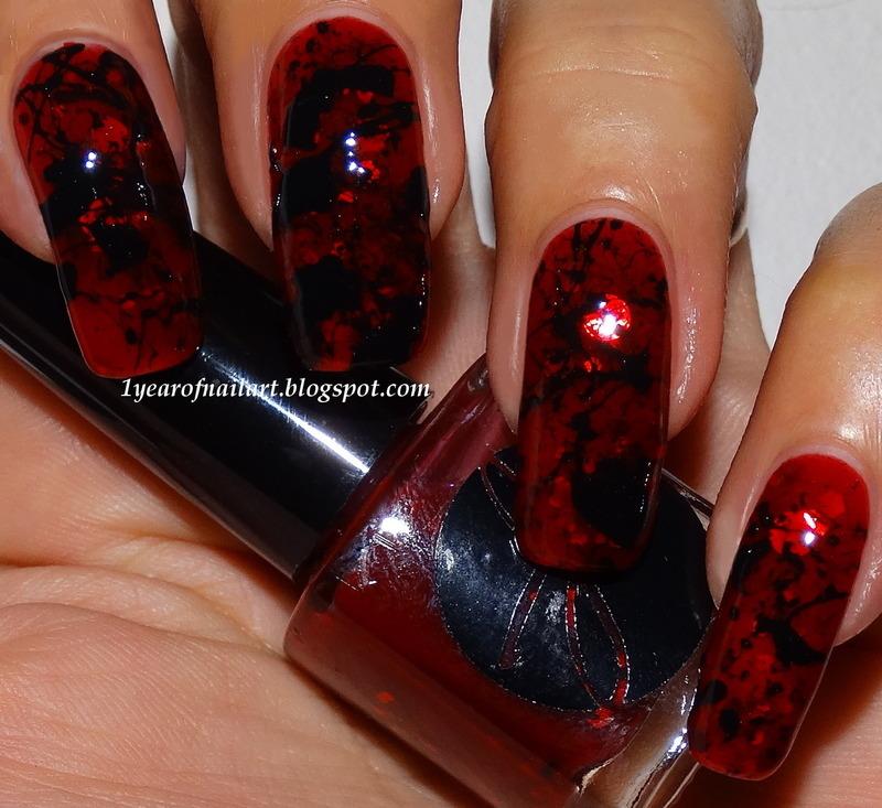 Splatter nails nail art by Margriet Sijperda