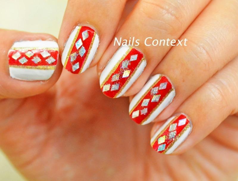 Placement Glitter nail art by NailsContext