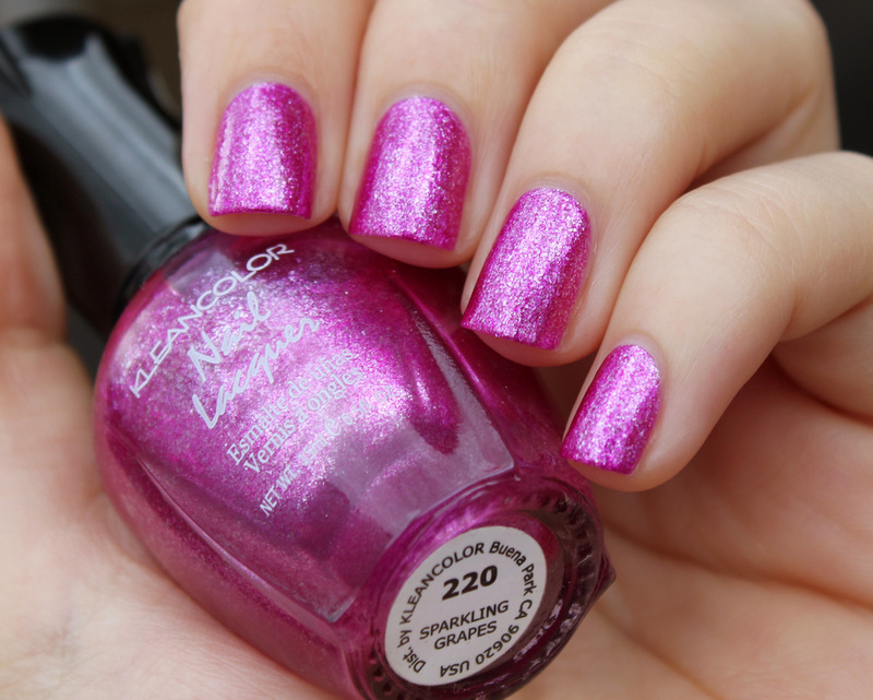 Kleancolor Sparkling Grapes Swatch by Moriesnailart - Nailpolis ...