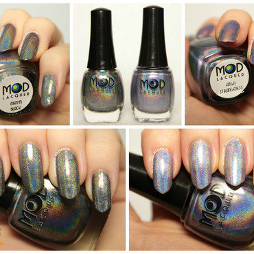 Mod Lacquer Men In Black and Mod Lacquer High Strangeness Swatch by Robin