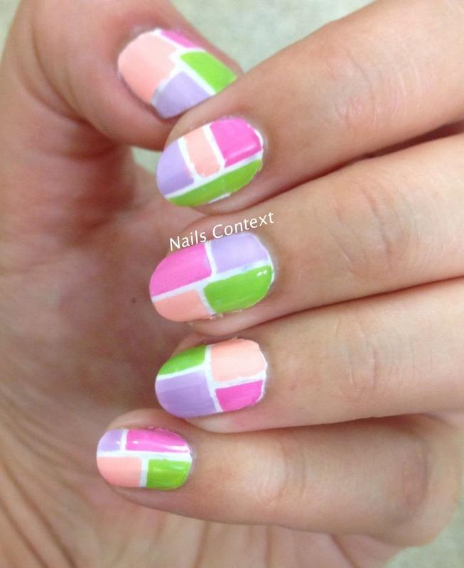 Pastel Retro Nails nail art by NailsContext