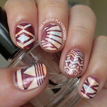 Soft 20sponged 20colors 20with 20tribal 20print 20stamping 20nail 20art thumb370f