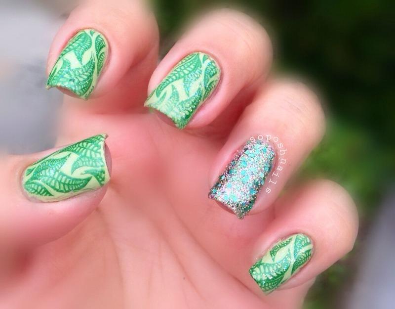 Seaweed nail art by Debbie