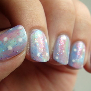 Pastel Galaxy nail art by Elin The Cupcake Cat