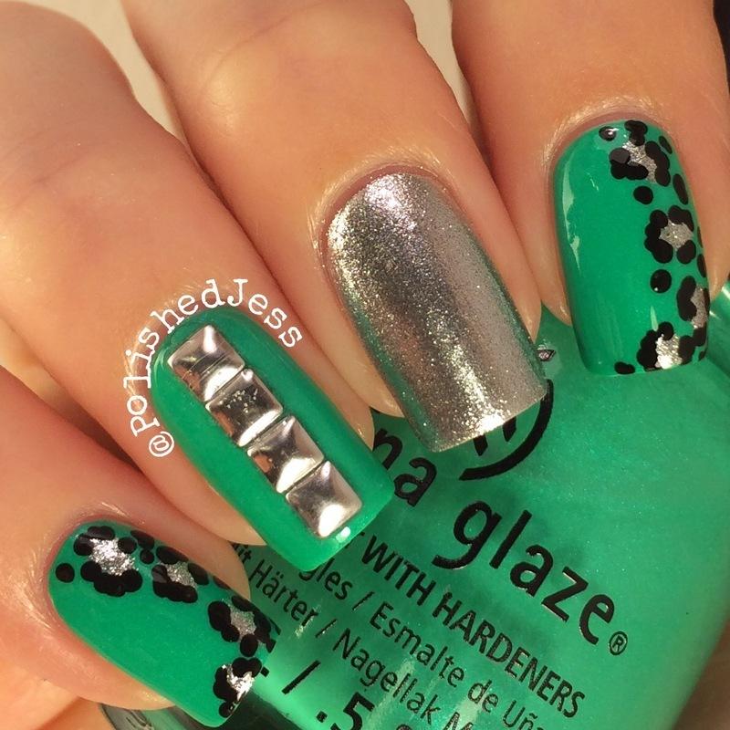 Mani Swap Green nail art by PolishedJess