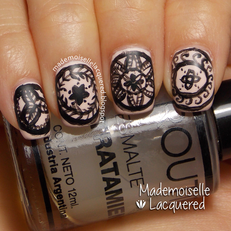 Intricate Mandalas nail art by Emilia