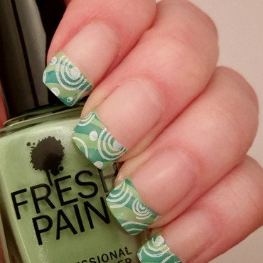 Funky French nail art by Gr8Nails