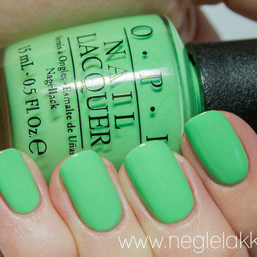 OPI you are so outta lime Swatch by Ida Malene