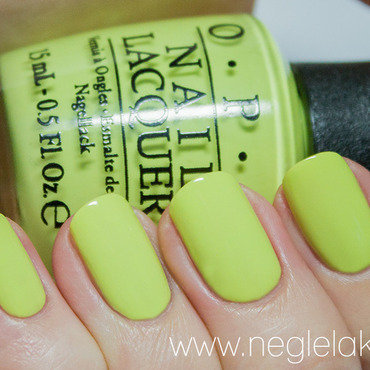 OPI Life Gave Me Lemons Swatch by Ida Malene