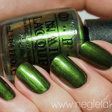 OPI Green On The Runway Swatch by Ida Malene