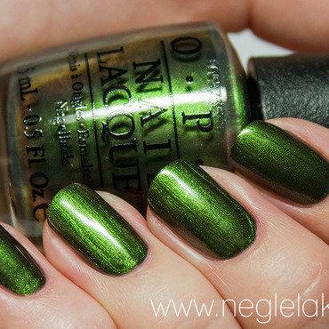 OPI Green On The Runway Swatch by Ida Malene