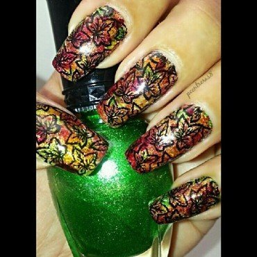 Fall Leaves nail art by pcontreras8nails