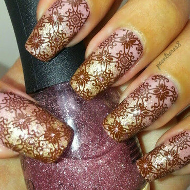 Elegant Wallpaper nail art by pcontreras8nails
