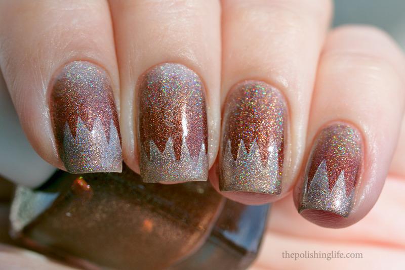 Scaled Gradient with Fun Lacquer nail art by Alena Belozerova