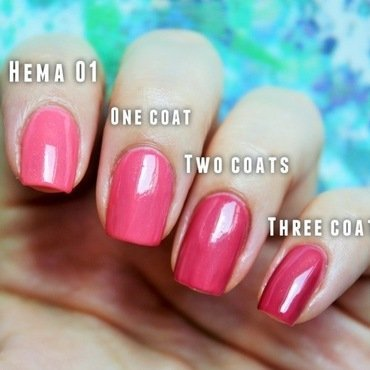Catrice Ombre top coat and Hema 01 Swatch by Jane