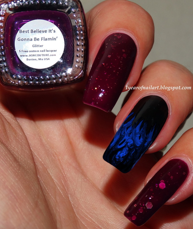 Flame nails nail art by Margriet Sijperda