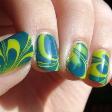 Water Marble For Fall nail art by Elin The Cupcake Cat
