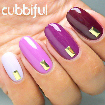 Fancy Autumn Ombre Nails nail art by Cubbiful