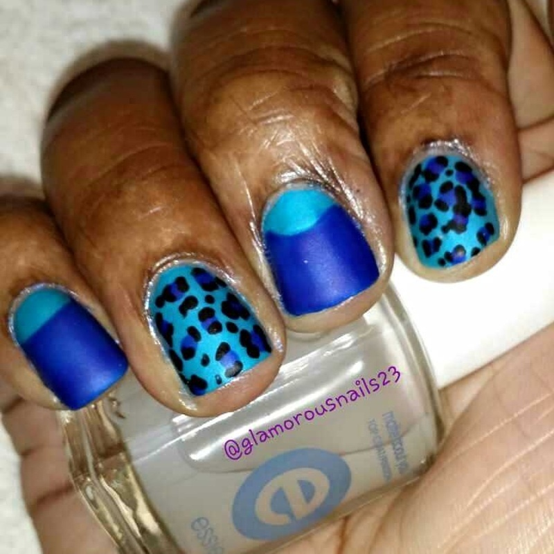 Half Moon Leopard Print  nail art by glamorousnails23