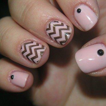 Chevron nail art by Agni