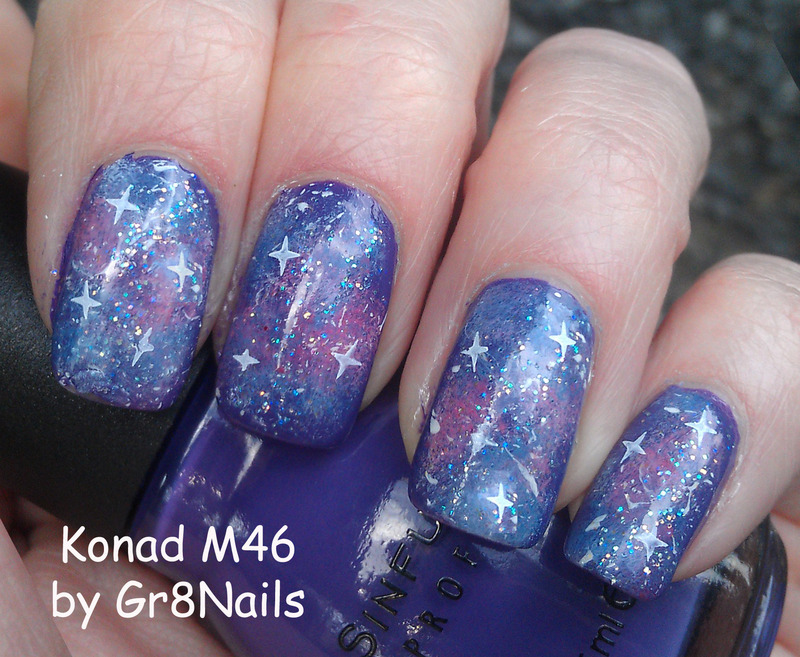 Galaxy Nails nail art by Gr8Nails