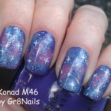 Galaxy Nails nail art by Gr8Nails
