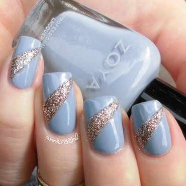 Light Blue Tape Mani nail art by Ann-Kristin