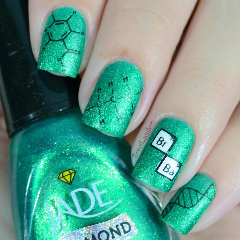 Breaking Bad Nails nail art by Brasil_nailart