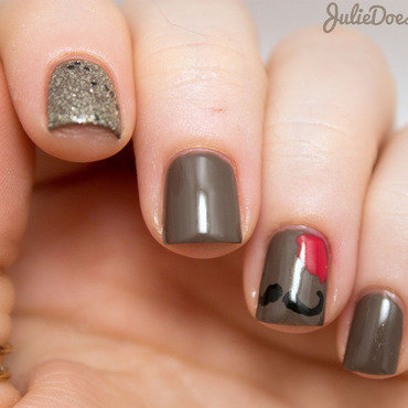 #31DC2014 Day Twenty-One: Inspired by A Color nail art by Julie