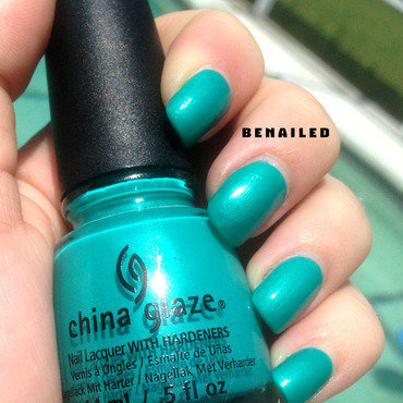China Glaze Turned up turquoise Swatch by Dana  Nicole