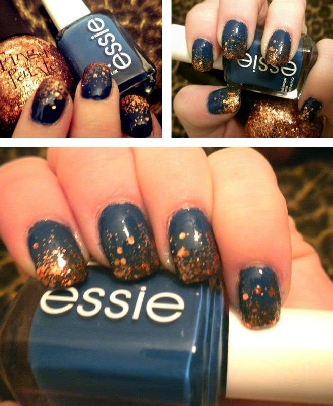 Glitter Fade nail art by Dana  Nicole