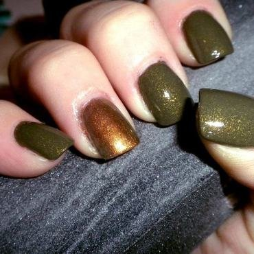 Zoya Yara and Maybelline Boho Gold Swatch by Dana  Nicole
