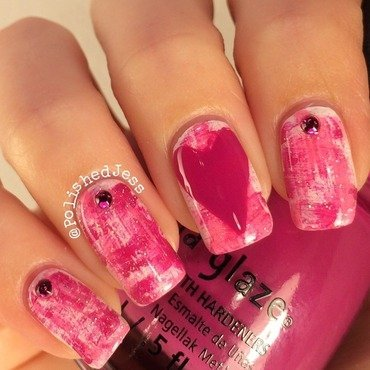 Message From Your Heart nail art by PolishedJess