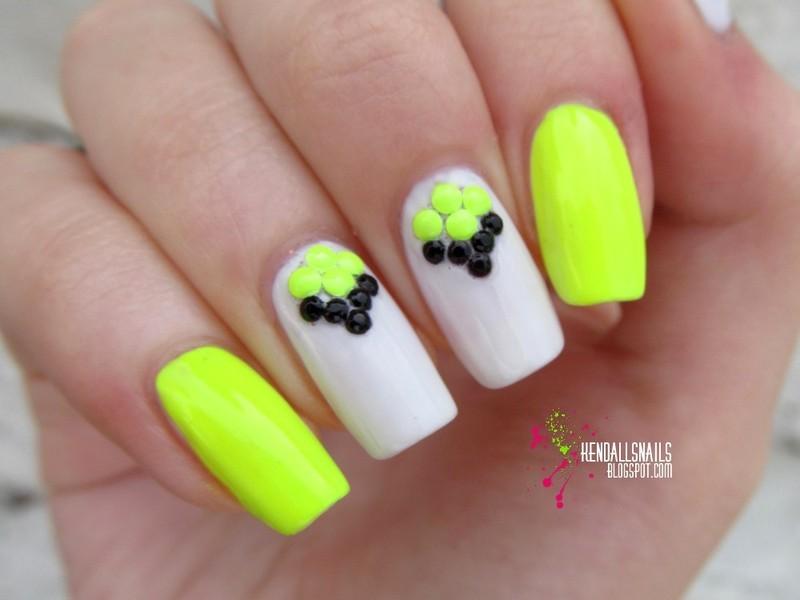 Neon! nail art by Julia Friedel